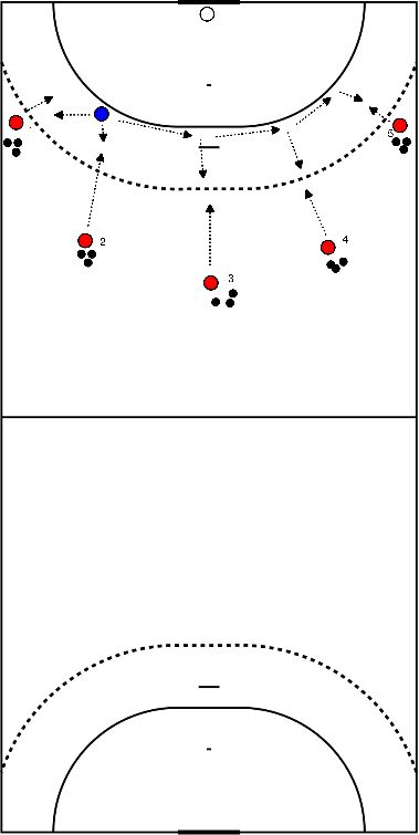 handball Defending with contact with the player in possession