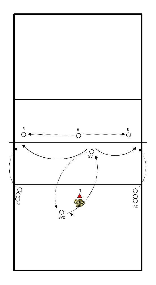 volleyball Libero vs block