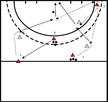 hockey Backhand passing and finishing