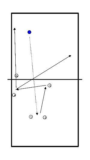 volleybal Aanval efficientie