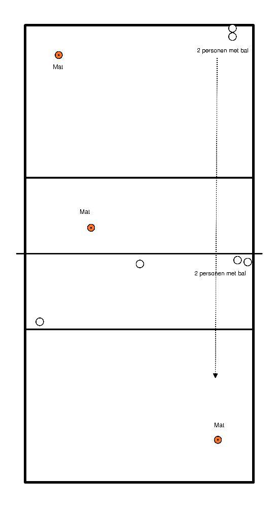 volleybal Aanval - gericht opslagen