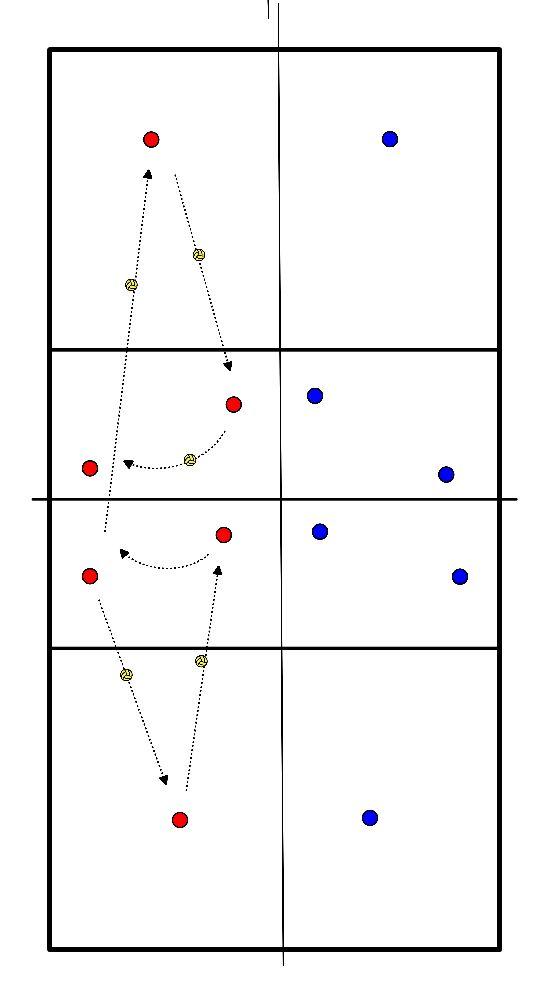 volleybal Partijtje op half veld