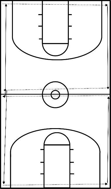 basketbal Achtjes lopen