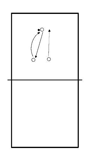 volleybal Warming up, spel lezen verbeteren, controle, conditie (3-tal)