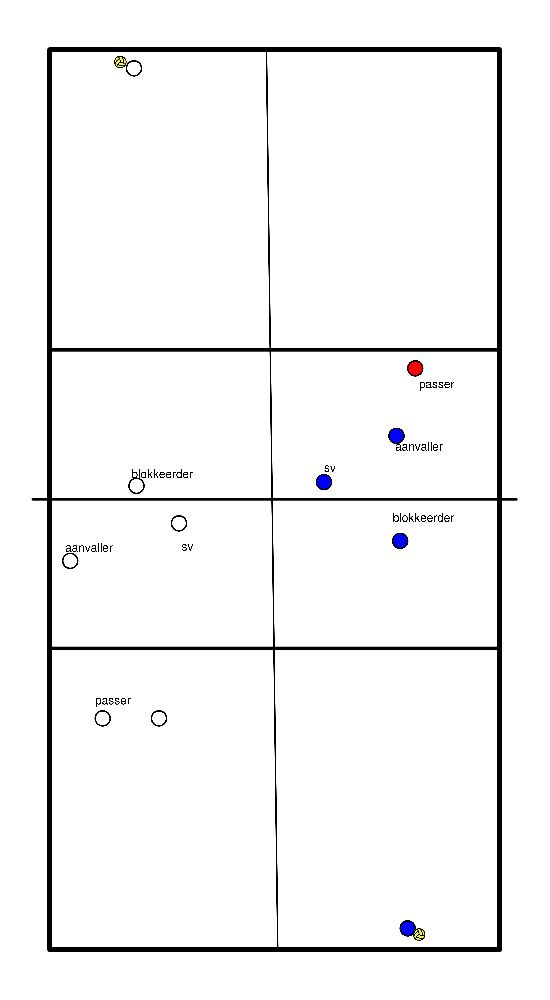 volleybal Afstemming met spelverdeler