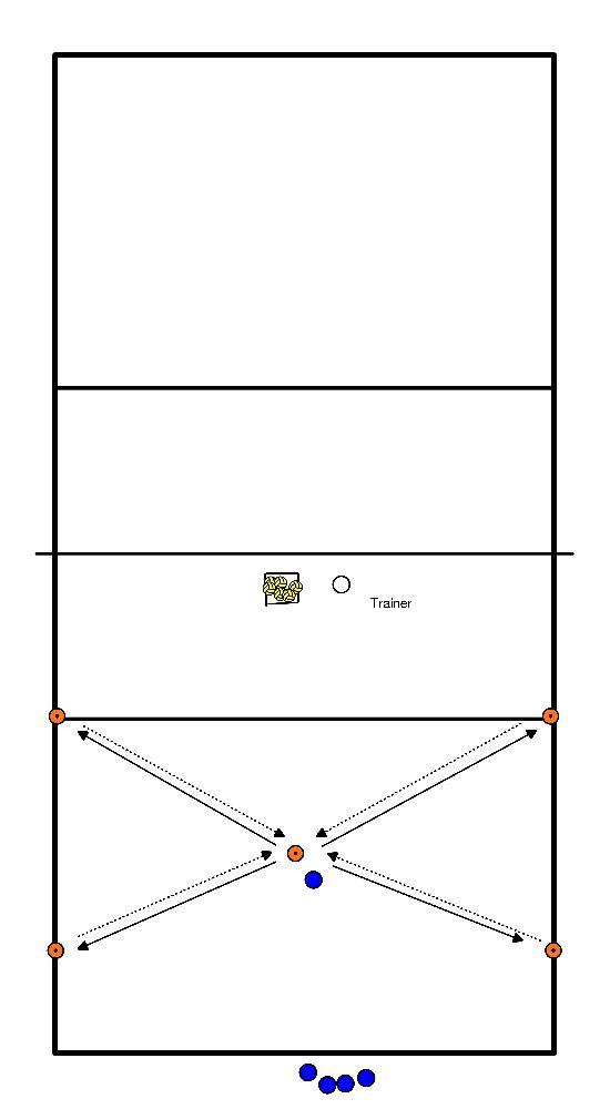 volleybal Bal recuperatie