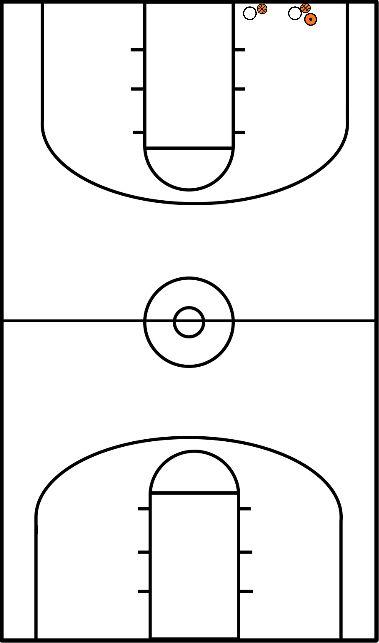 basketbal Balvaardigheid rebound en worp