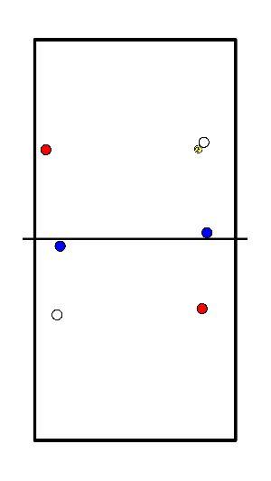 volleybal Diagonaal verdediging spelvorm
