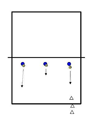 volleybal Verdedigen kort ver
