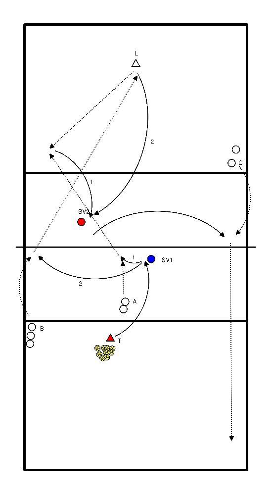 volleybal Aanval vs verdediging (Libero)