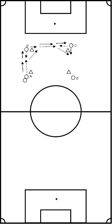 voetbal Pass in de loop