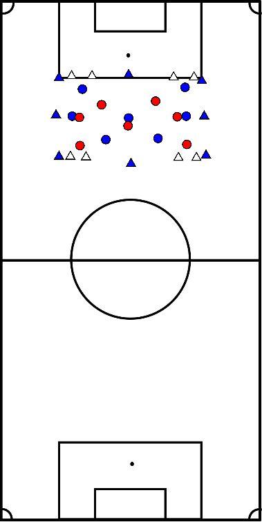 voetbal Partij 4 goals