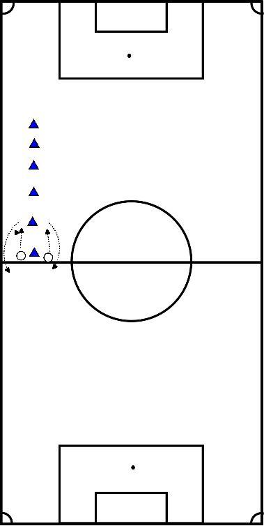 voetbal Sprint 50mtr enkel