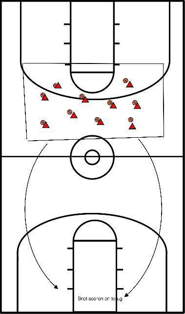 basketbal Wegtikkertje in een vak