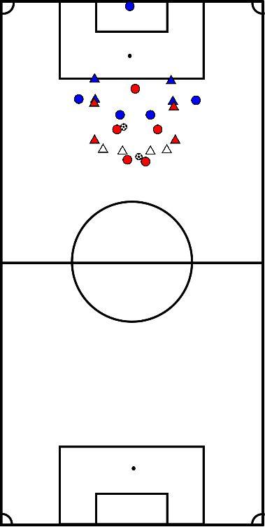 voetbal Afronden positiespel A-V