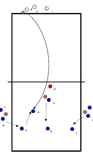 volleybal Wedstrijd situatie (beweging receptie)