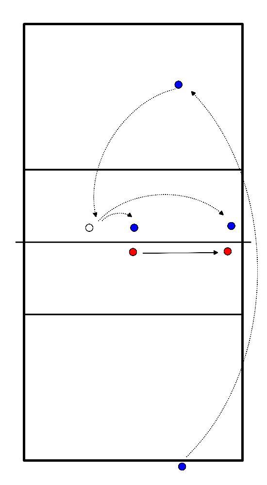 volleybal Blokkeren in spelsituatie