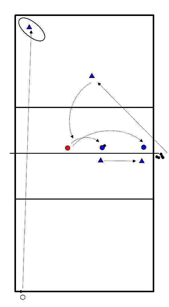 volleybal Aanval, blokkering en service