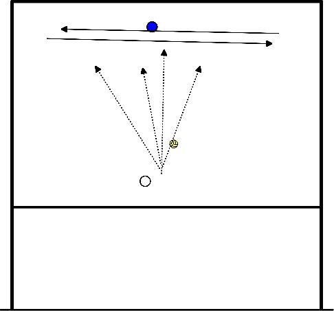 volleybal Zijwaarts verplaatsen en verdedigen